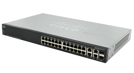 Cisco SF500-24P 24-Port 10 100 Stackable Managed Switch (SF500-24-K9)