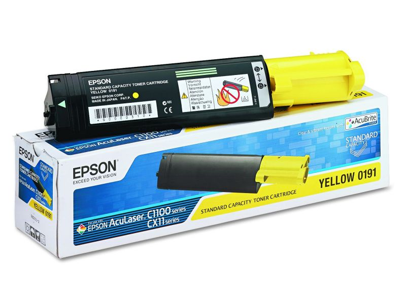 Mực in Epson S050191 Yellow Developer Cartridge - Standard Capacity