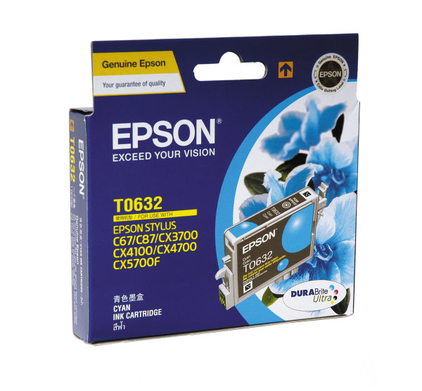 Mực in Epson T063290 Cyan Ink Cartridge (T063290)