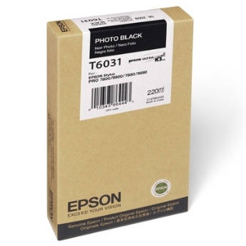Mực in Epson T603100 Photo Black Cartridge (220ml) (C13T603100)