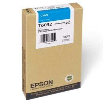 Mực in Epson T6032 Hộp mực Xanh (220ml) (C13T603200)