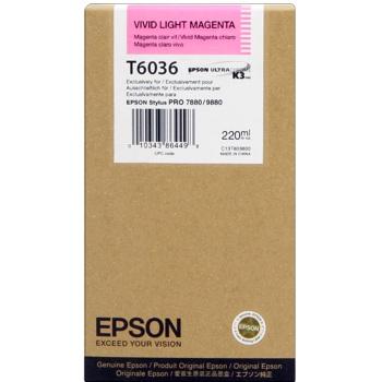 Mực in Epson T6036 Vivid Light Magenta Cartridge (220ml) (C13T603600)