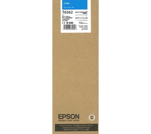 Mực in Epson T6362 Cyan ink cartridge (C13T636200)