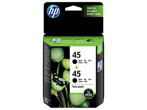 Mực in HP 45 2-pack Black Original Ink Cartridges (CC625AA)