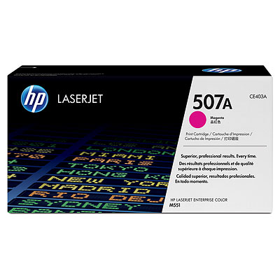 Mực in HP 507A Magenta LaserJet Toner Cartridge (CE403A)