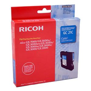 Mực in Ricoh GC21 Cyan Gel Cartridge