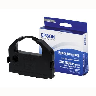 Ribbon Epson S015508 Black Ribbon Cartridge (680 chính hãng)